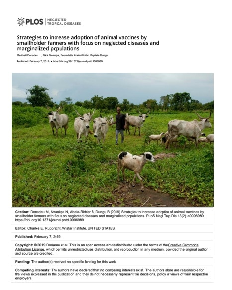 Strategies to increase adoption of animal vaccines by smallholders farmer